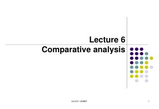 Lecture 6 Comparative analysis