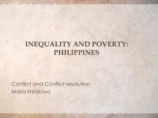 Inequality and poverty: Philippines