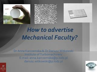 How to advertise Mechanical Faculty?