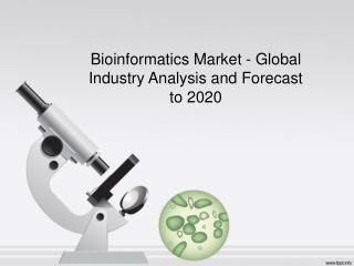 Bioinformatics Market Research Report and Forecast to 2020