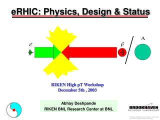 eRHIC: Physics, Design & Status