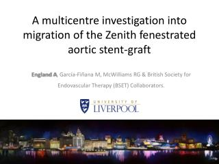 A multicentre investigation into migration of the Zenith fenestrated aortic stent-graft