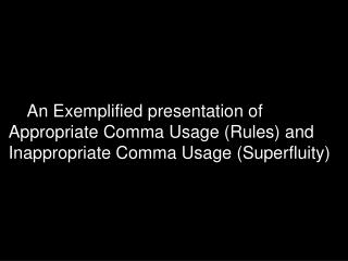 English 081 Comma Rules