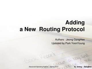 Adding  a New  Routing Protocol