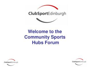 Welcome to the  Community Sports  Hubs Forum