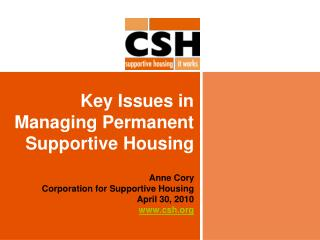 Key Issues in Managing Permanent Supportive Housing