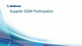 Supplier SQM Participation