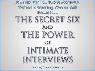 Shaune Clarke, Talk Show Host Turned Marketing Consultant Reveals…