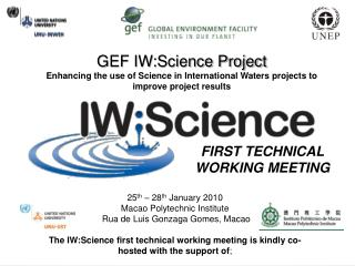 GEF IW:Science Project