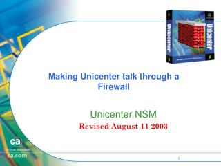 Making Unicenter talk through a Firewall