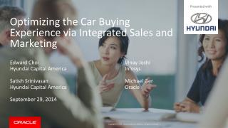 Optimizing the  Car Buying Experience  via Integrated Sales and Marketing