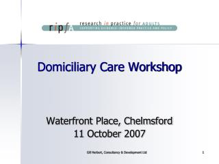 Domiciliary Care Workshop