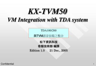 KX-TVM50 VM Integration with TDA system