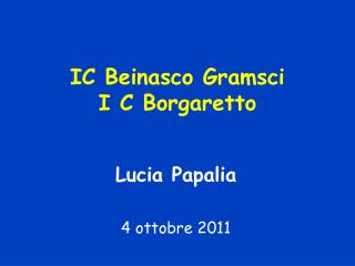 IC Beinasco Gramsci I C Borgaretto