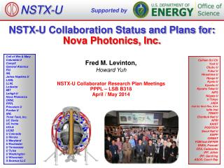 NSTX-U Collaboration Status and Plans for: Nova Photonics, Inc.