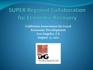 SUPER Regional Collaboration  for Economic Recovery