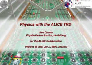 Physics with the ALICE TRD