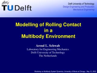 Modelling of Rolling Contact  in a  Multibody Environment