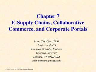 Chapter 7 E-Supply Chains, Collaborative Commerce, and Corporate Portals
