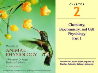Chemistry, Biochemistry, and Cell Physiology Part 1