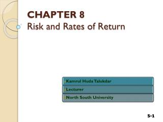 CHAPTER 8 Risk and Rates of Return