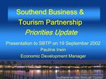 Southend Business  Tourism Partnership