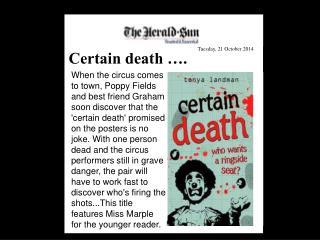 Certain death ….