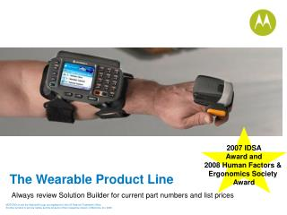 The Wearable Product Line