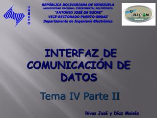 INTERFAZ DE COMUNICACIÓN DE DATOS