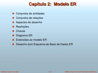 Capítulo 2:  Modelo ER