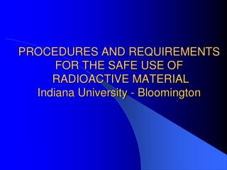 INITIAL AUTHORIZATION  TO USE RADIOACTIVE MATERIAL