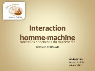 Interaction  homme-machine