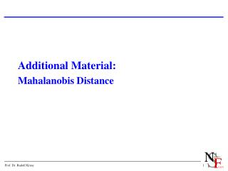 Additional Material: Mahalanobis Distance