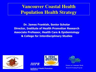 Vancouver Coastal Health  Population Health Strategy