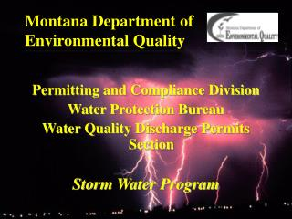 Montana Department of Environmental Quality