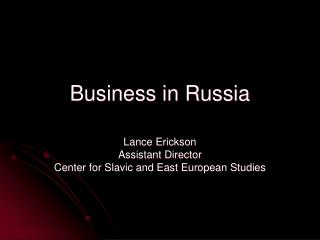 Business in Russia