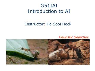 G51I AI Introduction to AI