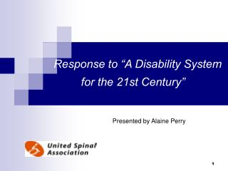 "Response to ""A Disability System for the 21st Century"""