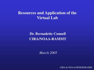 Resources and Application of the Virtual Lab