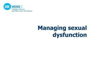 Managing sexual dysfunction