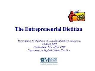 The Entrepreneurial Dietitian