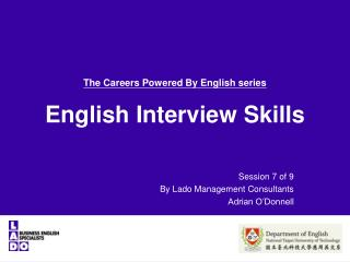 The Careers Powered By English series English Interview  Skills