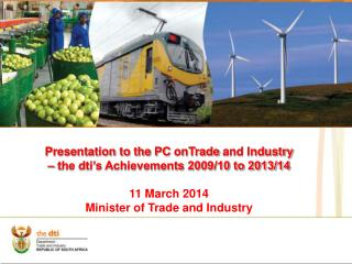 Presentation to the PC  onTrade  and Industry – the dti's Achievements 2009/10 to 2013/14