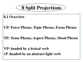 8 Split Projections