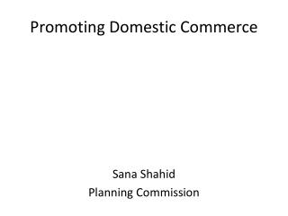 Promoting Domestic Commerce