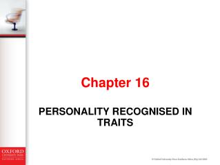 Personality recognised in traits