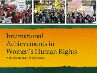 International Achievements in Women's Human Rights