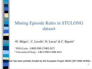 Mining Episode Rules in STULONG dataset
