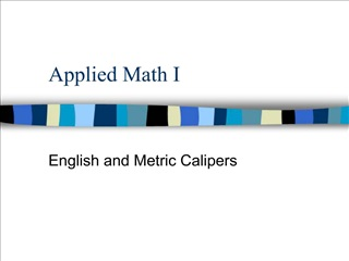 Applied Math I