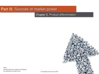 Part III.  Sources of market power